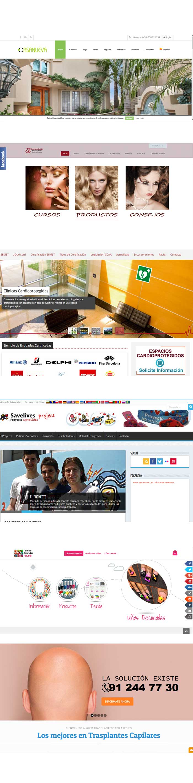 crear página web ejemplos