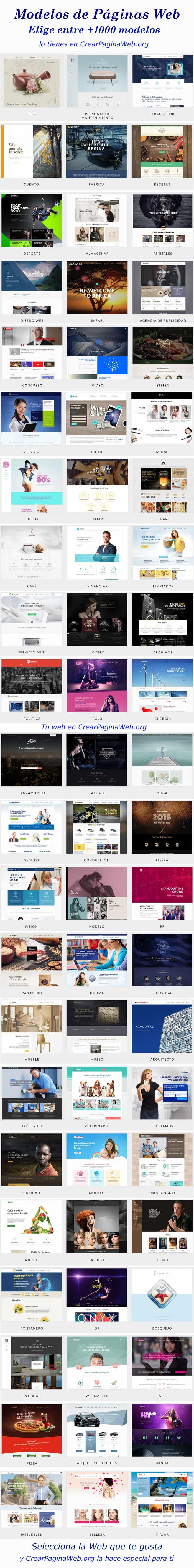 diseños de crear pagina web