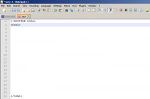 código página html