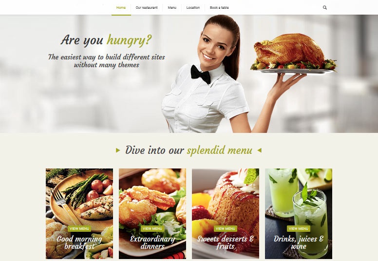 crear página web de cocina