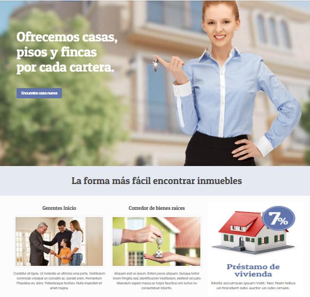 crear una página web inmobiliaria