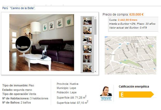 ficha piso pagina web inmobiliaria