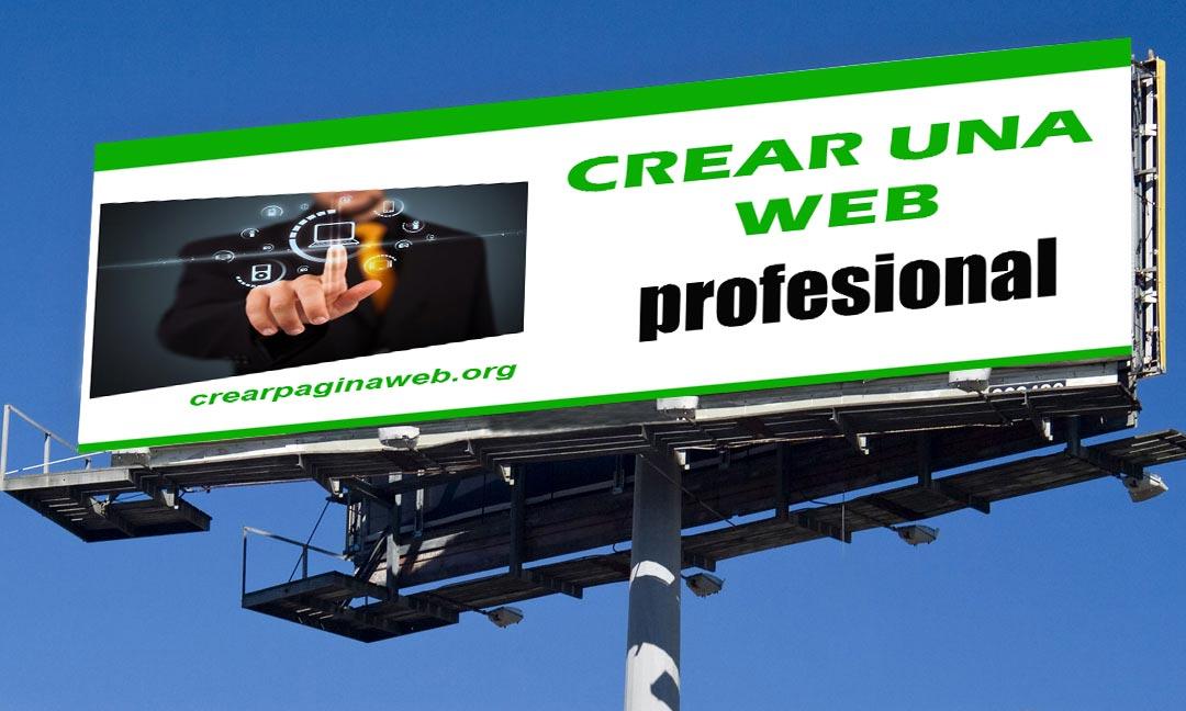 crear una página web profesional