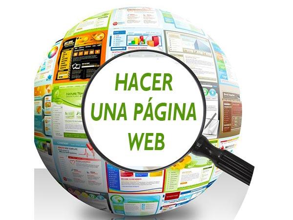 hacer una pagina web